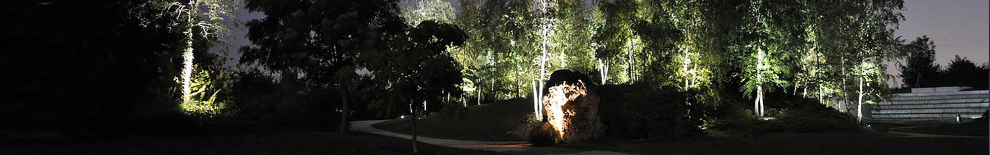 Lichtkonzept im Park der Sinne